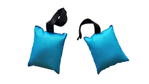 TOTE A FORT Weighted Bags(2-Pack), Blanket Fort Bean Bags (Teal Blue)