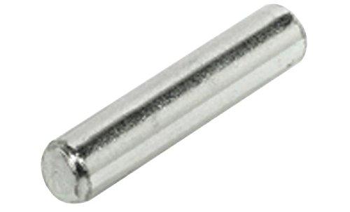 100 Stück Bodenträger 5 mm Bohrloch vernickelt 24 mm lang