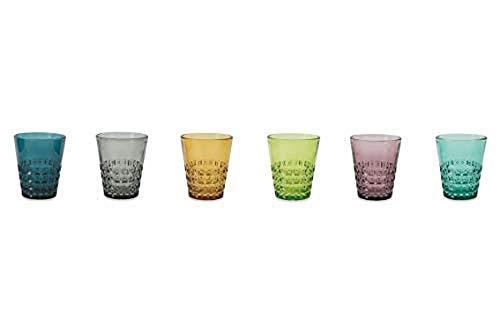 Villa d'Este Home Tivoli 2422735 Pixel Wassergläser, mehrfarbig, 6 Stück