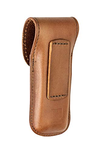 LEATHERMAN, Heritage Leather Snap Sheath for Multitools, Made in the USA, Medium (Fits Wave, Charge, and Skeletool)