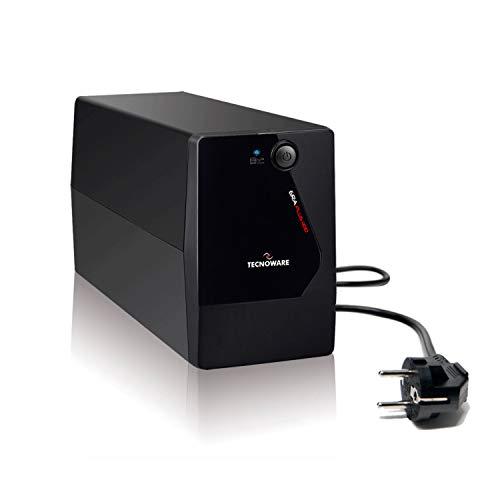 Tecnoware UPS Era Plus 1100. Potenza 1100 VA, Autonomia fino a 17 min con 1 PC o 60 min con Modem Router WiFi, Stabilizzazione AVR – USB con Software TecnoManager per Gestione UPS per Win/Mac