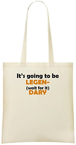 Es wird wahrscheinlich (warten Sie) DARY - It's Going To Be Legen- (wait for it) DARY Custom Printed Shopping Grocery Tote Bag 100% Soft Cotton Eco-Friendly & Stylish Handbag For Everyday Use Custom