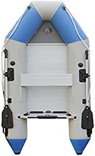Wotefusi Inflatable Boat Dinghy Raft Kayak Blue 2 Persons 7.55 Ft Aluminum Alloy Floor Board 2 Oars Thick PVC Uv Resistant Non Slip Anti-Collision