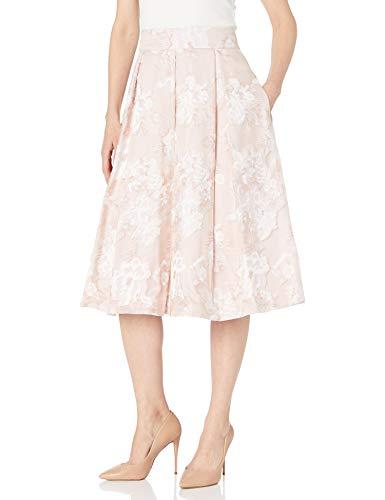 Eliza J Women's Floral Midi Skirt, Blush, 4