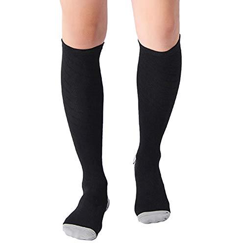 KasenA Calcetines de Compresión, para Hombres, Deporte, Running, Varices Gris L/XL(EU40-44)