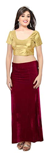 crazy bachat Indian Ethnic Design Stretchable Cotton Lycra Blouse Golden Tops Readymade Saree Blouse Short Sleeve Crop Top