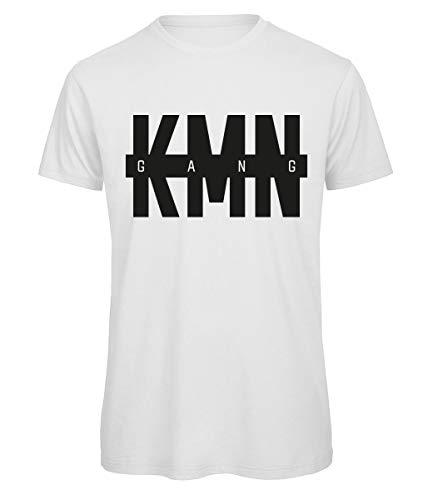 KMN Gang T-Shirt Logo Weiss, Farbe:Weiss, Größe:L