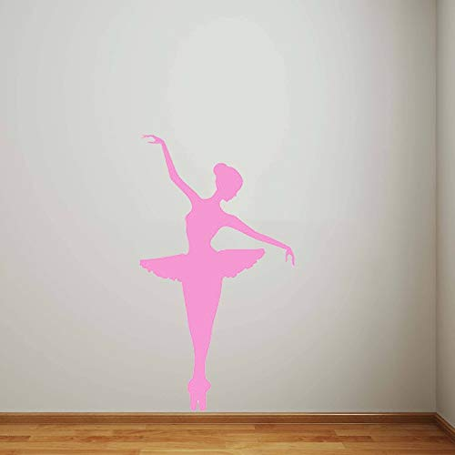 dormitorio Etiqueta de la pared Calcomanía Elegante Ballet Pegatinas de pared modernas para habitaciones de niños Bailarina de moda Chica Dormitorio Guardería Decoración para el hogar Mural 42 * 74cm