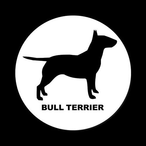 KDEQT Sticker De Carro 14,2 Cm * 14,2 Cm Bull Terrier Pegatinas...