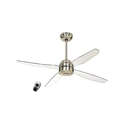 Ventilatore a soffitto, libellula BN ala trasparente acrilico con FB