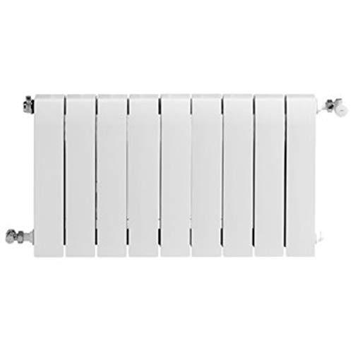 Radiador de aluminio de alta emisión térmica Batería, 9 elementos, serie Dubal 60, 8,2 x 72 x 57,1 centímetros (Referencia: 194A25901)