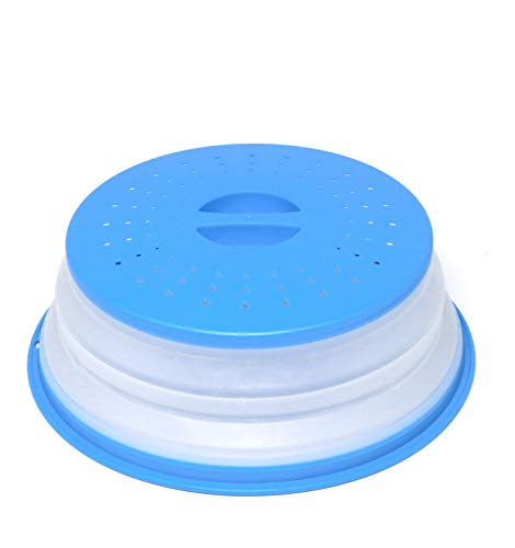 Nifogo Faltbare Mikrowellenabdeckhaube/Mikrowellenabdeckung, BAP-frei und ungiftig (Blau)