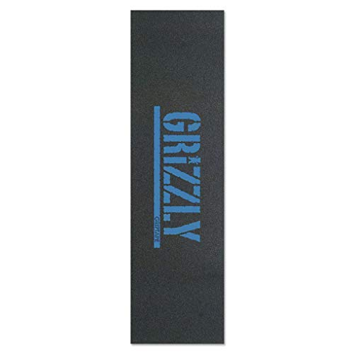 """Grizzly Skateboard Griptape Stamp Print Baby Blue 9\"""""""