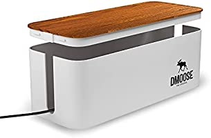 DMoose Cable Management Box, Hide Power Strips Loose Wires Behind TVs, Home Office, Computers, Desks, Entertainment...