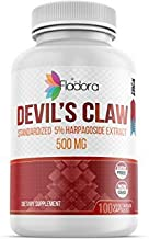 Devil's Claw Root Extract 500mg with 5% Harpagoside Extract 100 Vegetarian Capsules by Fladora, Natural Pain Relief Supplement, Non-GMO, Gluten Free