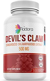 Devil#039s Claw Root Extract 500mg with 5% Harpagoside Extract AntiInflammatory amp Antioxidant 100 Vegetarian Capsules by Fladora NonGMO