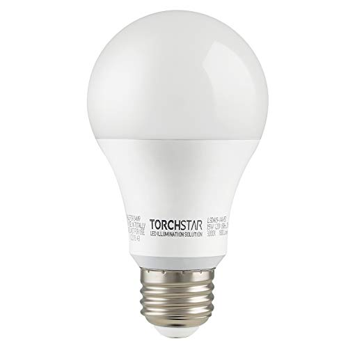 Garage Door Opener LED Bulb, 100W Equivalent LED A19 Light Bulb, 1600 Lumens Ultra-Bright 3000K Warm White, Non-Dimmable, Standard E26 Medium Base, UL-listed, Damp Location rated, Pack of 4