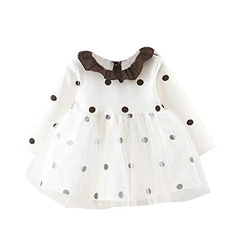 Allence Kleinkind Baby Mädchen Kleid Süß Kleider Blumen Langarm Tutu Urlaub Prinzessin Outfit Kleidung