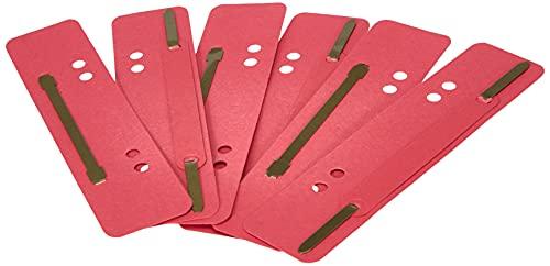 Herlitz 9977612 Heftstreifen aus Karton 3,4 x 15 cm, 25 Stück, farbig sortiert