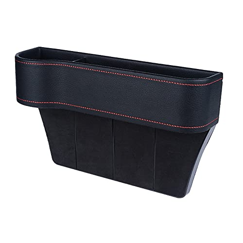 Brawdress Car Seat Gap Filler Organizer Pockets Car Console Side Organizer Filler Storage Box Front Seat Console Side Pocket with Cup Holder for Cell Phones Keys Cards Wallets