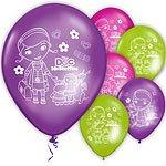 6 BALLONS DOCTEUR LA PELUCHE DISNEY MULTICOLORES Decoration Fete Anniversaire Enfant