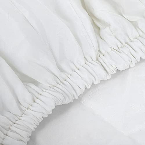 Socobeta Cubierta de aire acondicionado de tela de doble aislamiento a prueba de polvo, práctica elástica para aire acondicionado (43 x 33 x 7 cm)