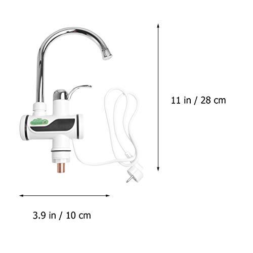 Winomo Wasserhahn / Mischbatterie mit LED-Digitalanzeige für Temperatur von Warmwasser / Kaltwasser, geeignet für Küche, Spüle, Boiler, Waschbecken – EU-Stecker