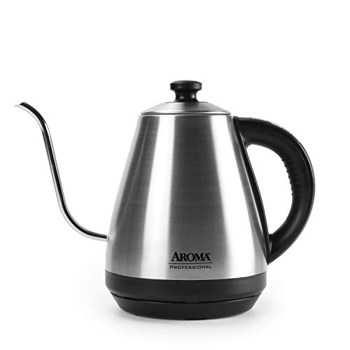 Aroma Housewares Professional AWK-211SD Digital Gooseneck Electric Kettle, 1.0L, Silver