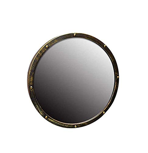 JJZI-L Specchio Rotondo, Bagno Specchio da Toilette Maschile da Letto Specchio Retro Style Industrial Bar Ristorante Specchio Decorativo 50 * 50 * 5cm (Size : 70 * 70 * 5CM)