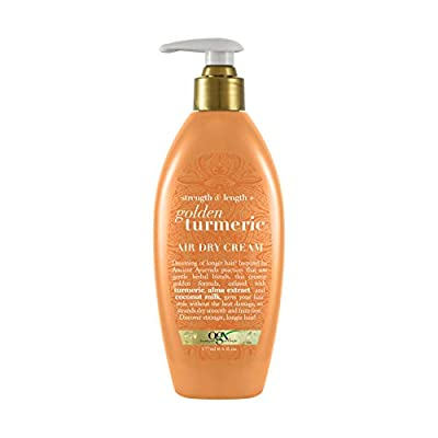 OGX Strength & Length + Golden Turmeric Shampoo with Coconut Milk to Soothe Scalp & Nourish Hair, Ayurveda Sulfate-Free Surfactants for Stronger & Longer Hair, 13 fl. oz