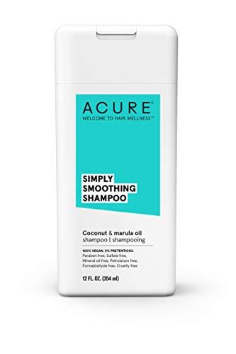 Acure Shampoo Simply Smoothing, Coconut & Marula 12 Oz