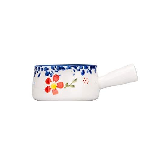 YAOLUU Tazón de Salsa para mojar Creamer, jarros de cerámica pequeña Jarra de Leche Salsa Creamer, Jarabe de café Tarro Servidor inmersión Cuencos 50ml / 1.69oz (2pack) Salsera (Color : A(2PACK))