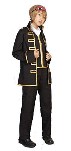 『銀魂 真選組 隊服 金縁 コスプレ 衣装 Mサイズ スカーフ アイマスク 付き 5点セット』の4枚目の画像