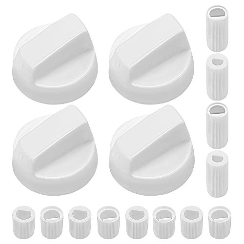 AMI PARTS White Oven Control Switch Knob with 12 Adapters Universal...