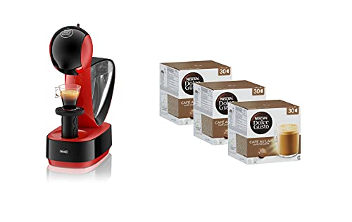 Nescafe Dolce Gusto Infinissima by De'Longhi with Dolce Gusto Pods NDG Café au Lait 90 Pods