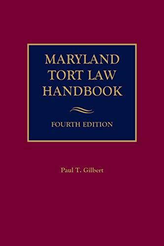 Maryland Tort Law Handbook (English Edition)