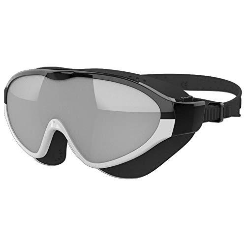 msbeen Gafas de natación Gafas de Buceo Gafas Profesionales antivaho Anti-Ultravioleta Gafas Deportivas de Gran tamaño para Adultos a Prueba de Agua Negro Gris