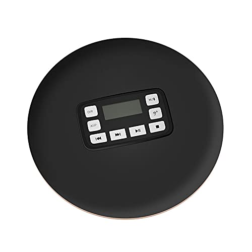 Reproductor de CD portátil, Bluetooth, luces de video en la cámara Reproductor de CD inalámbrico estéreo de alta fidelidad con conector para auriculares de 3.5 mm y batería recargable Pantalla LCD R
