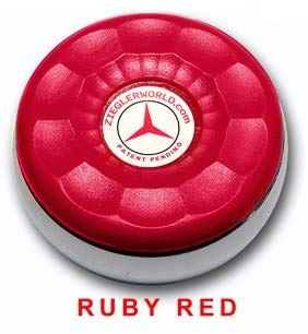 Best Buy! Zieglerworld Table Medium Shuffleboard Puck Weights - 4 Pucks - Ruby Red Colors + Booklet