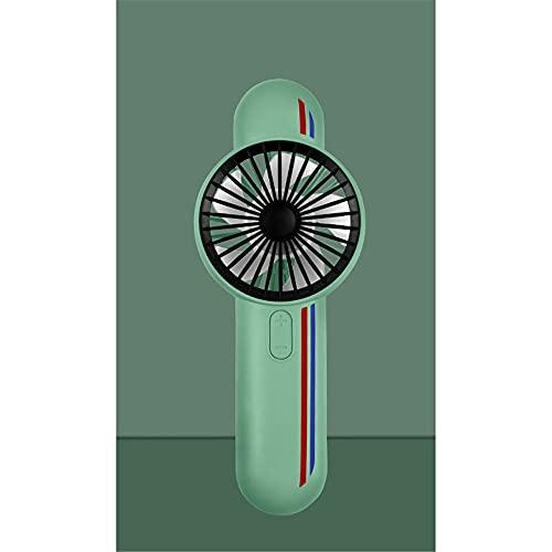 ventilador pequeño,Pequeño ventilador de mano portátil lindo de la historieta del USB, mini fan-A recargable silencioso verde