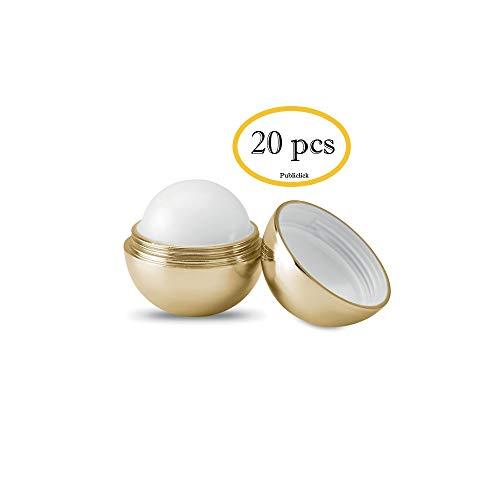 Bálsamos Labiales Aroma dorados en Lote de 20 unidades, sabor Vainilla, Dermatológicamente testado, balsamos labiales boda, detalles boda invitadas