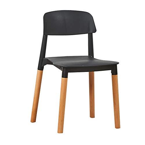 Sly Silla de cocina, patas de madera maciza, respaldo moderno, para uso domestico, mesa y sillas de negociacion de bienes raices