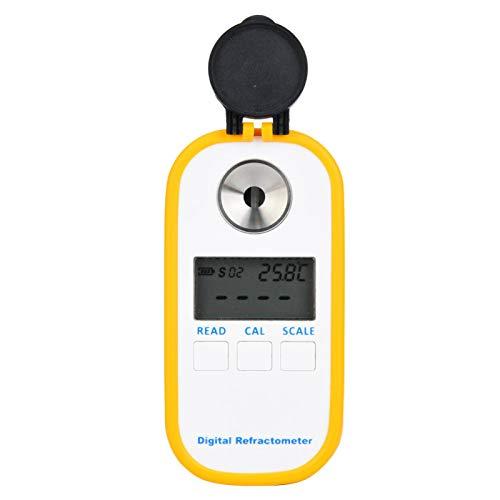 Densitómetro de café Herramienta de medición de azúcar Medidor de concentración de cerveza digital a prueba de agua Refractómetro antichoque Hidrómetro de alta precisión para oficina en casa