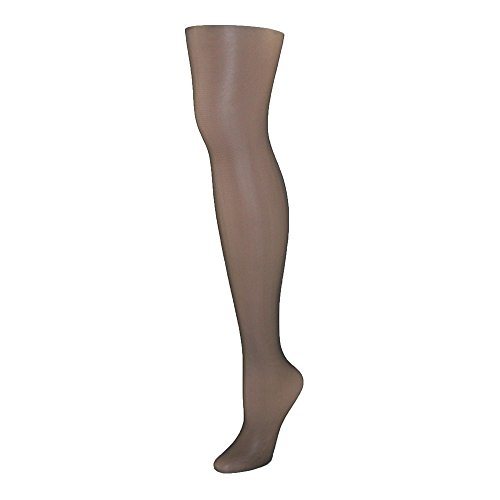 Hanes Women's Control Top Sheer Toe Silk Reflections Panty Hose, Jet, A/A/B
