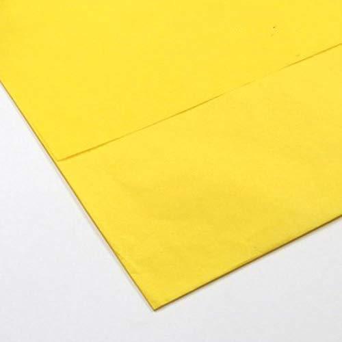 10 stuks kleur tissue, pakpapier, handwerk, papierrol, verpakking kerstcadeau, wijn, shirt, kleding, papieren tissue, verpakkingsmateriaal donkergeel