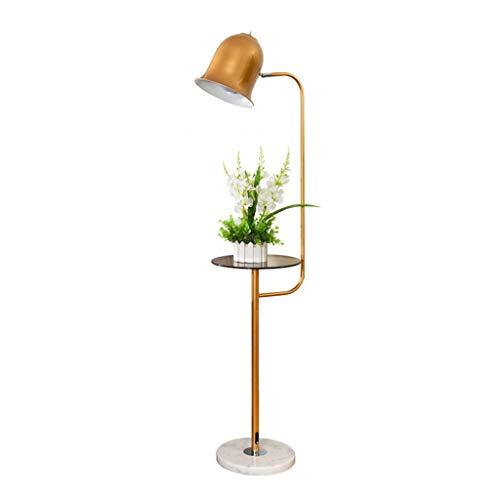Lampes de chevet Lampadaire Salon Canapé Table Basse Chambre Nordic Simple Moderne Créatif Vertical Lampe De Table (Color : Gold, Size : 27 * 140cm)