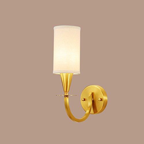 William 337 wandlamp volledig van koper E14 LED bedlampje wandlamp voor hal, balkon moderne minimalistische wandlamp 1120-1W