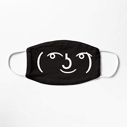 Lenny Face Meme Emote Face Black Mask