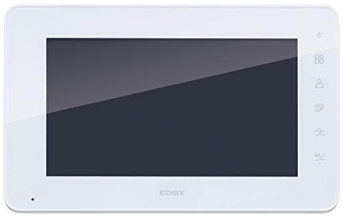 Vimar K40932 Monitor LCD 7in con teclado capacitivo para kit videoportero de superficie, alimentador, con estribo para la fijación de superficie, Blanco