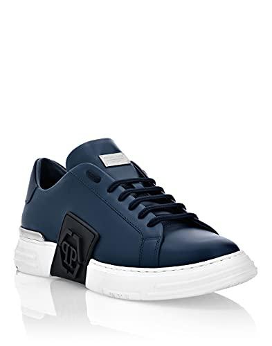 Philipp Plein Masculino Leather Phantom Kick$ Lo-Top Sneakers Iconic Plein